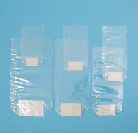 block bottom bag with card